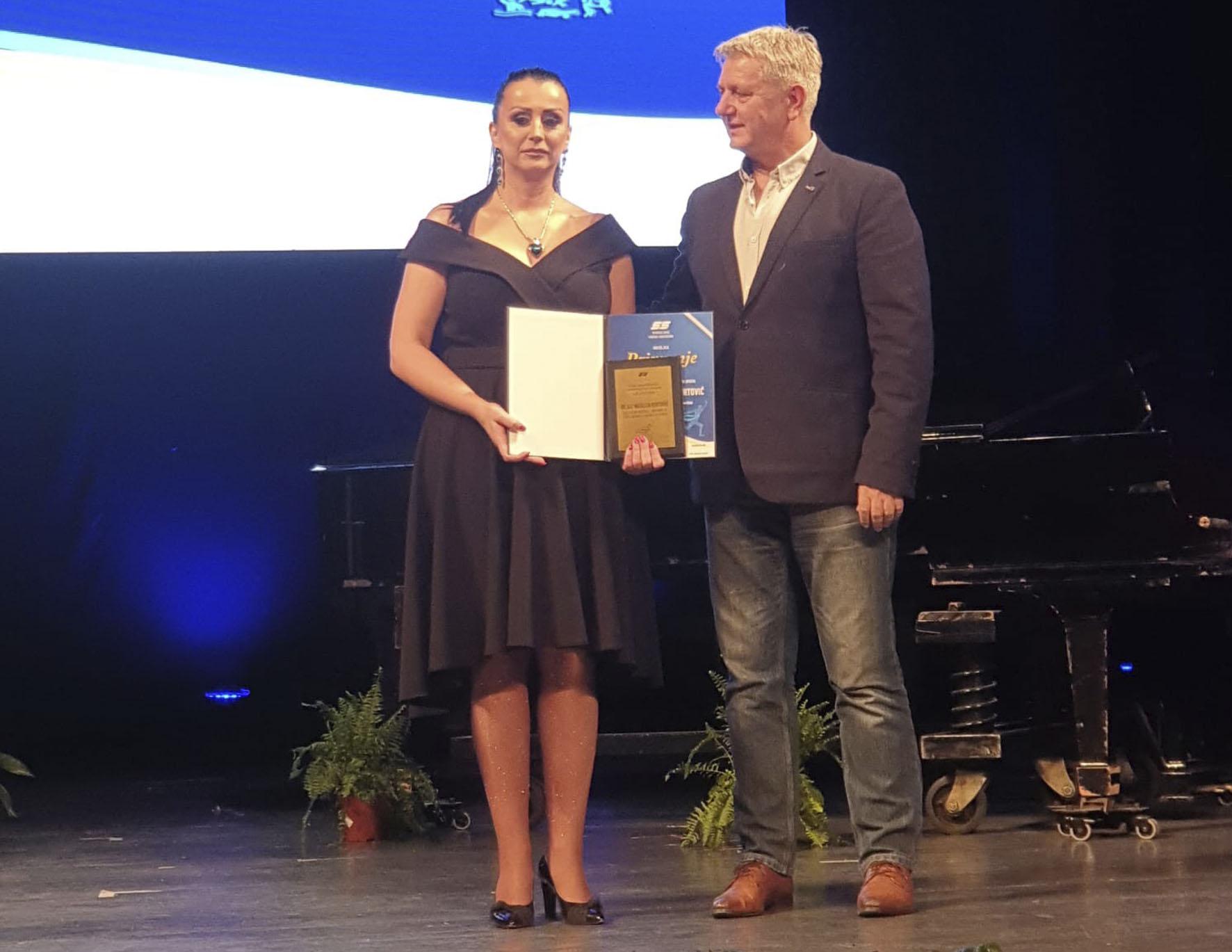 Docentica Natalija Kurtović dobitnica Specijalnog priznanja Sportskog saveza BiH