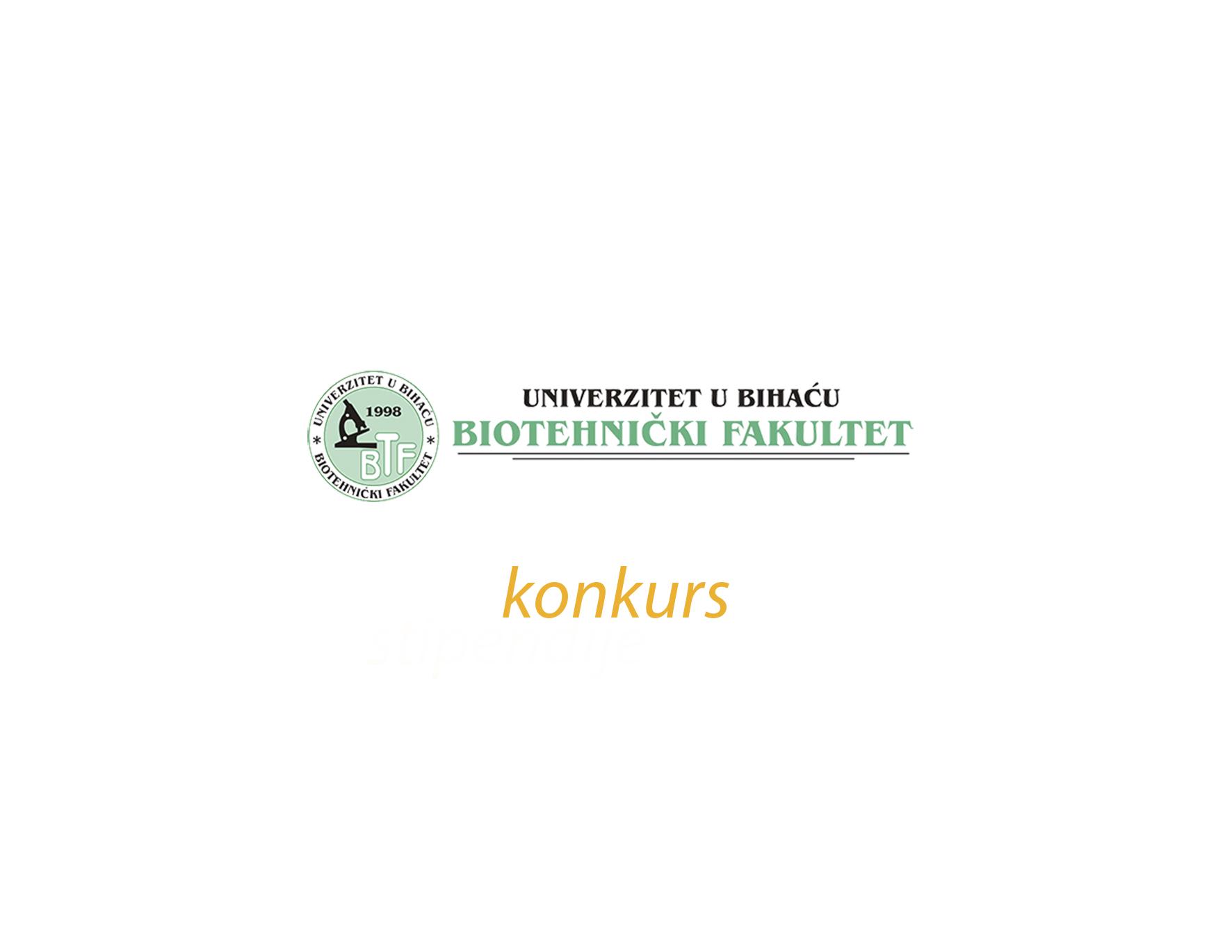 Konkurs Biotehničkog fakulteta Univerziteta u Bihaću