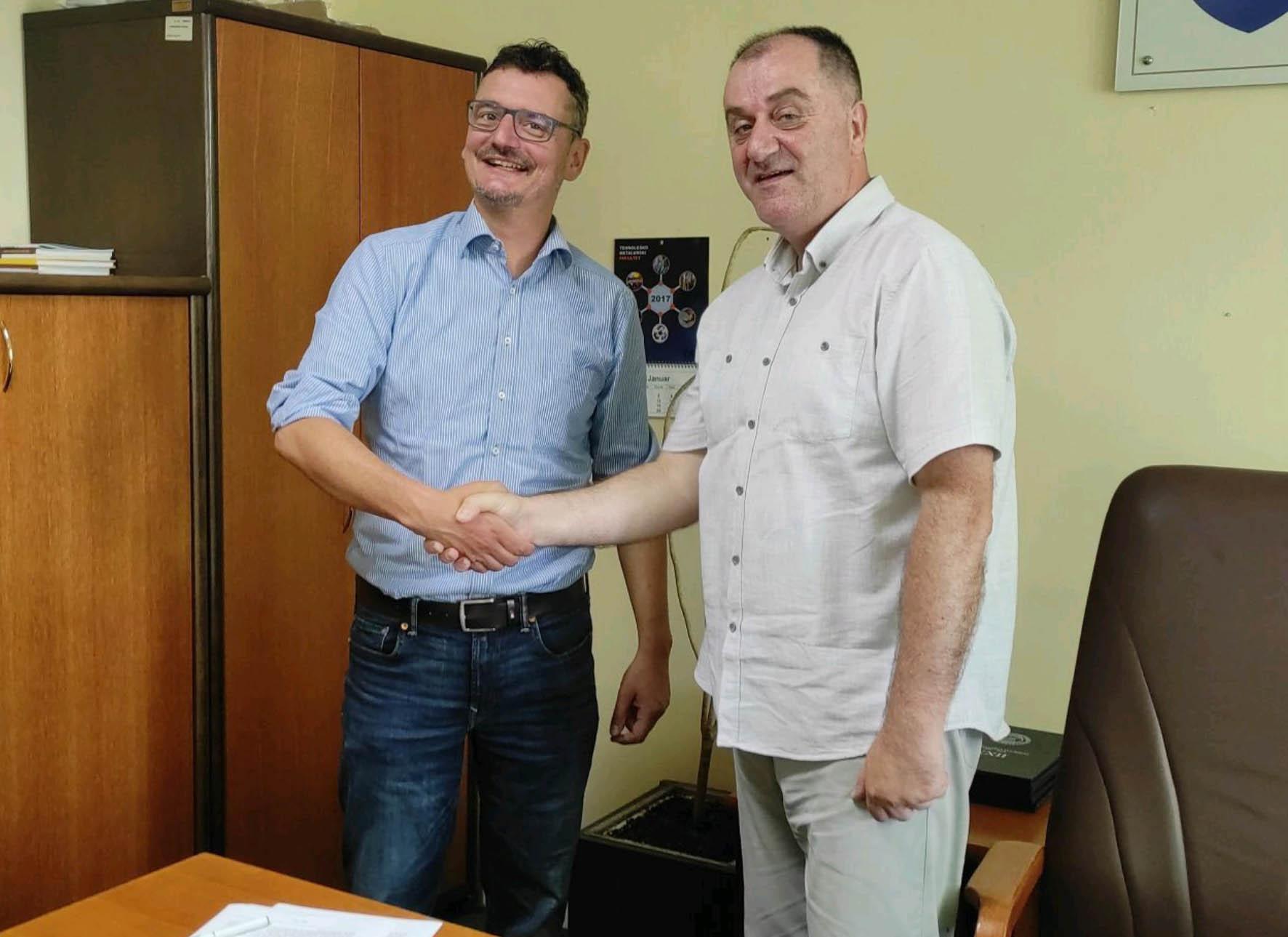 Sporazum Tehničkog fakulteta UNBI i firme Texulting iz Chemnitza