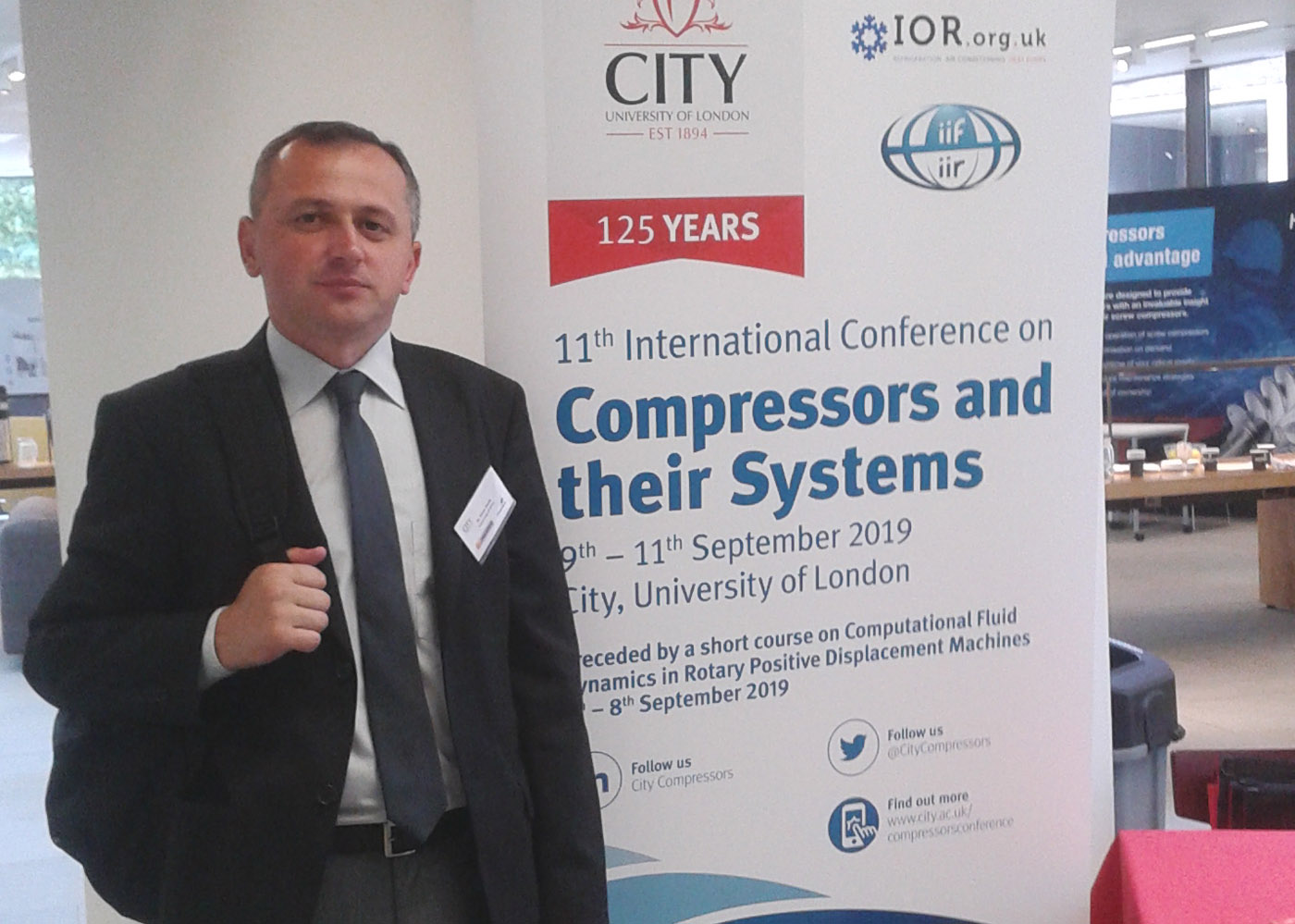 Nastavnik Ermin Husak na konferenciji na City University of London