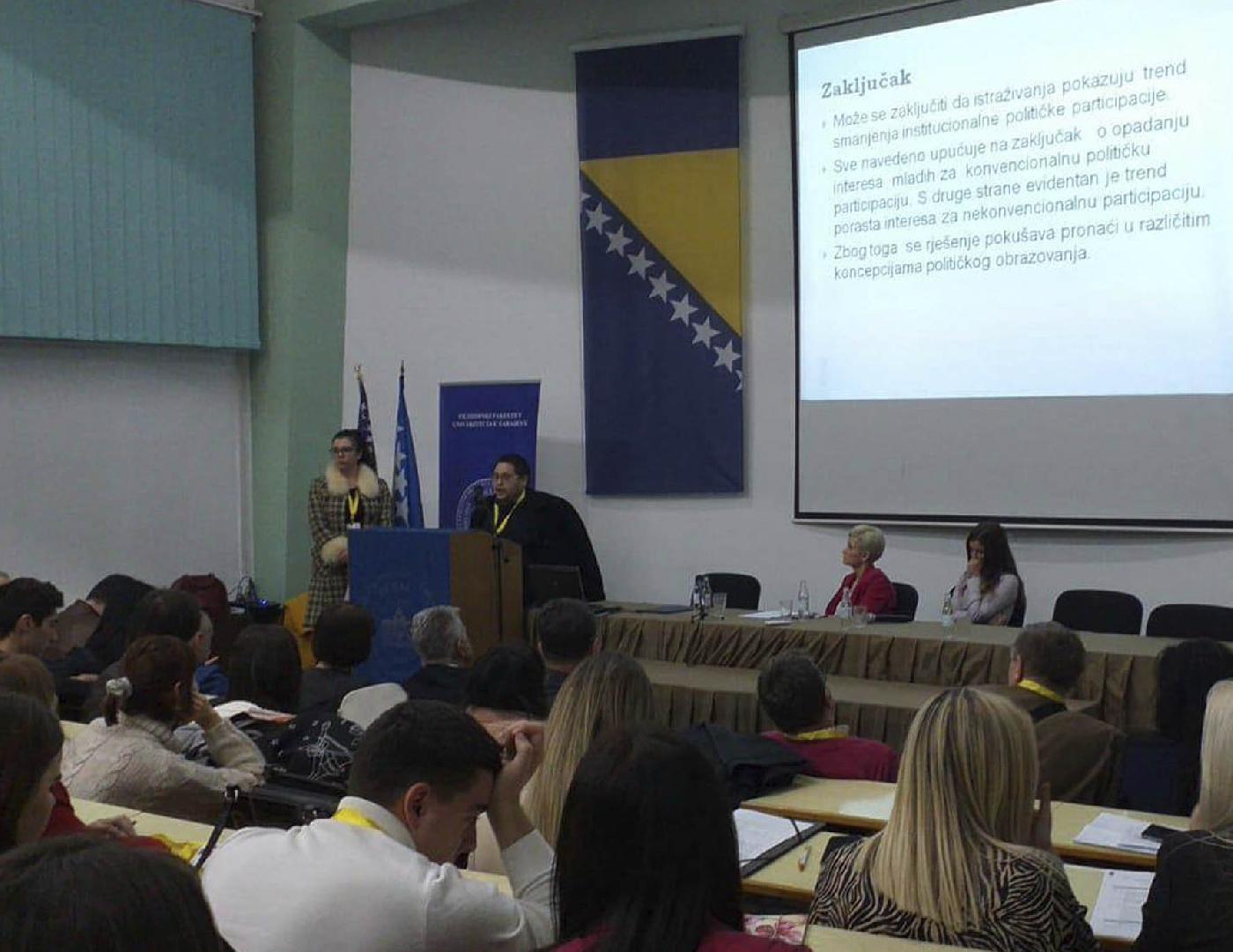 Pravni fakultet u Bihaću učesnik Druge univerzitetske konferencije iz građanskog obrazovanja u Sarajevu